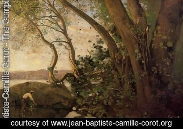 Jean-Baptiste-Camille Corot - Nemi, the Lake's Edge