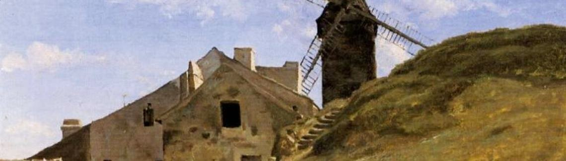 Jean-Baptiste-Camille Corot - A Windmill in Montmartre