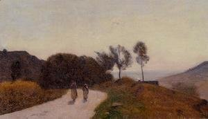 Jean-Baptiste-Camille Corot - A Road in the Countryside, Near Lake Leman