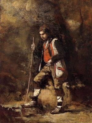 Jean-Baptiste-Camille Corot - Young Italian Patriot in the Mountains