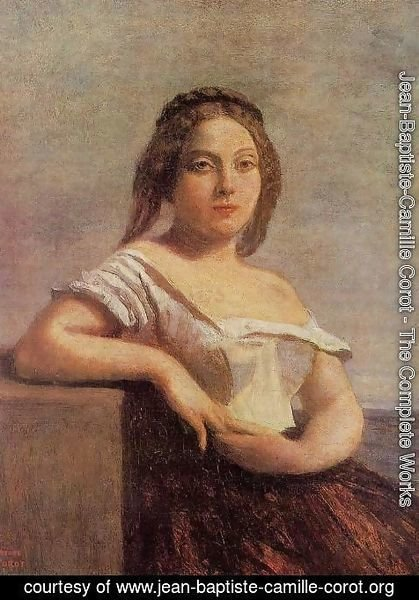 Jean-Baptiste-Camille Corot - The Fair Maid of Gascony