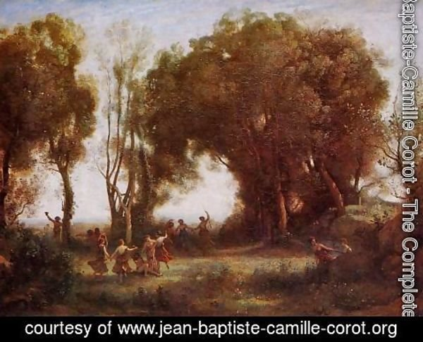 Jean-Baptiste-Camille Corot - Morning - Dance of the Nymphs