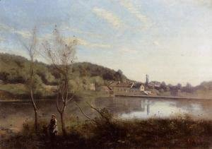 Jean-Baptiste-Camille Corot - Ville d'Avray, the Large Pond and Villas