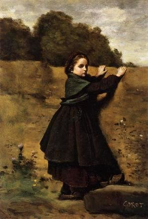 Jean-Baptiste-Camille Corot - The Curious Little Girl