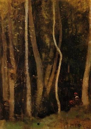 Jean-Baptiste-Camille Corot - Figures in a Forest
