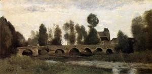 Jean-Baptiste-Camille Corot - The Bridge at Grez-sur-Loing