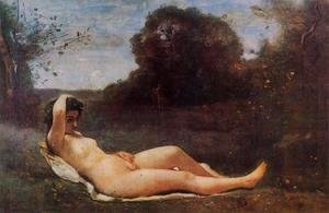 Jean-Baptiste-Camille Corot - Reclining Nymph