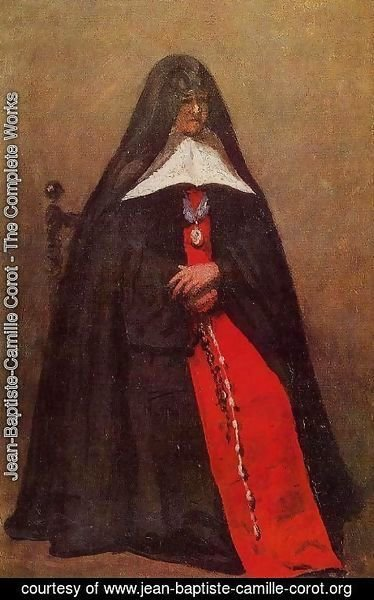 Jean-Baptiste-Camille Corot - The Mother Superior of the Convent of the Annonciades