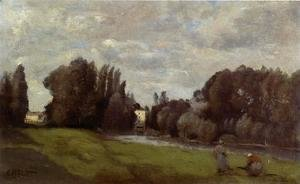 Jean-Baptiste-Camille Corot - The Mill in the Trees