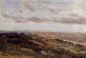 Jean-Baptiste-Camille Corot - Bologne-sur-Mer, View from the High Cliffs