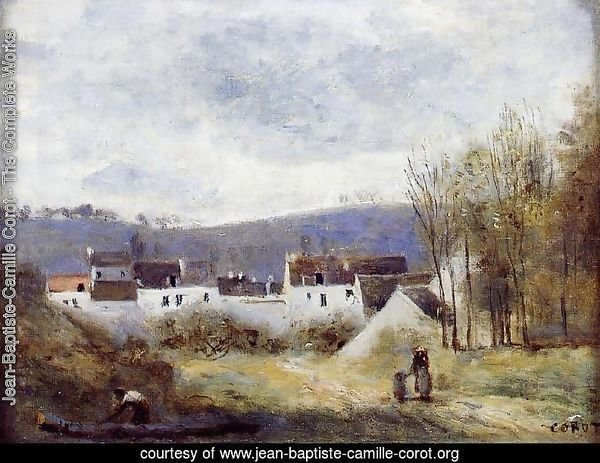 Village at the Foot of a Hill, Ile-de-France