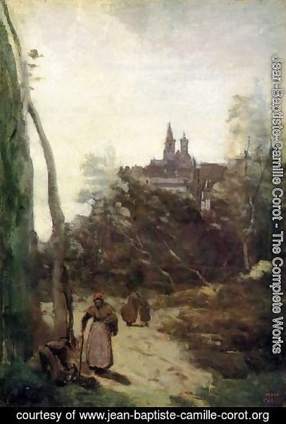 Jean-Baptiste-Camille Corot - Semur - the Path from the Church