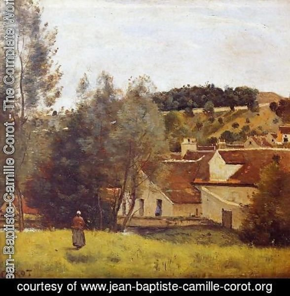 Jean-Baptiste-Camille Corot - The Evaux Mill at Chiery, near Chateau Thierry