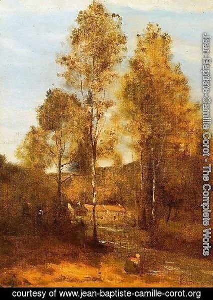 Jean-Baptiste-Camille Corot - Clearing in the Bois Pierre, near at Eveaux near Chateau Thiery