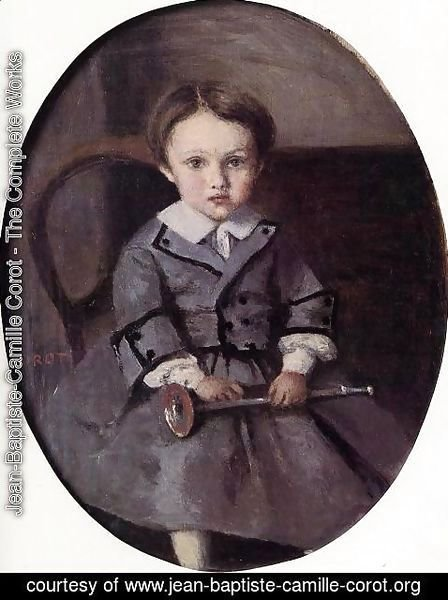 Jean-Baptiste-Camille Corot - Maurice Robert as a Child
