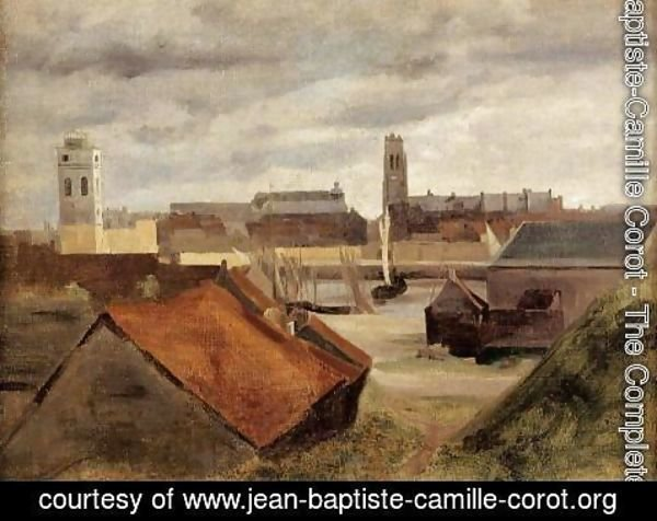 Jean-Baptiste-Camille Corot - Dunkirk, the Fishing Docks