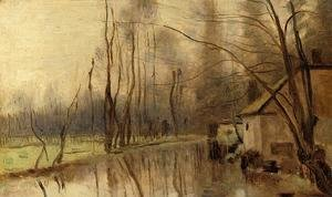 Jean-Baptiste-Camille Corot - Voisinlieu, House by the Water