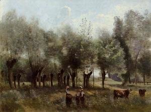 Jean-Baptiste-Camille Corot - Women in a Field of Willows