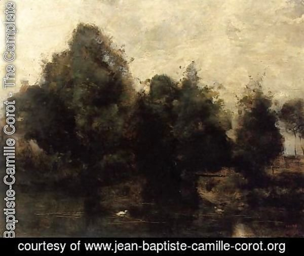Jean-Baptiste-Camille Corot - Near Arras, the Banks of the Scarpe