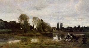 Jean-Baptiste-Camille Corot - Ville d'Avray - The Horses Watering Place
