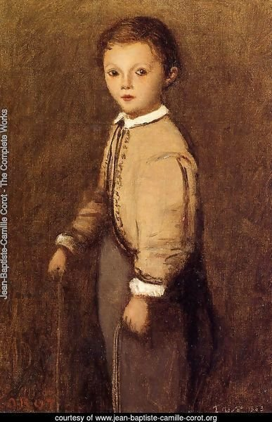 Fernand Corot, the Painter's Grand Nephew, at the Age of 4 and a Half Years