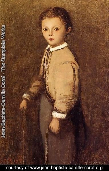 Jean-Baptiste-Camille Corot - Fernand Corot, the Painter's Grand Nephew, at the Age of 4 and a Half Years