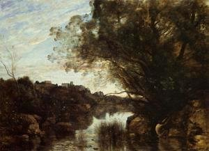 Jean-Baptiste-Camille Corot - Souvenir of the Lake Nemi Region