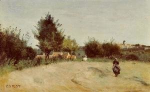 Jean-Baptiste-Camille Corot - Field above the Village
