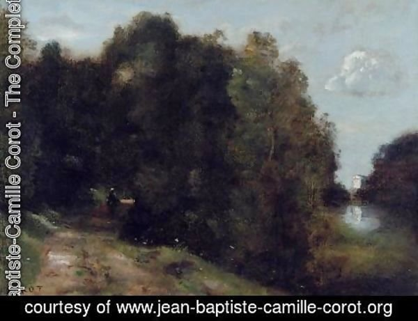 Jean-Baptiste-Camille Corot - A Road through the Trees