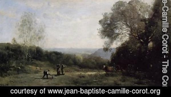 Jean-Baptiste-Camille Corot - Outside Paris - The Heights above Ville d'Avray