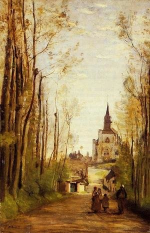 Jean-Baptiste-Camille Corot - Marissal, Path to the Front of the Church