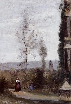 Jean-Baptiste-Camille Corot - Coulommiers, The Garden of M. Preschez
