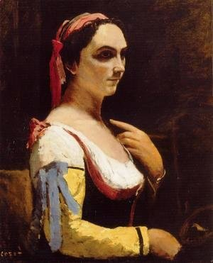 Italian Woman with a Yellow