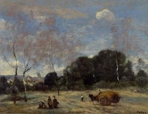 Jean-Baptiste-Camille Corot - Return of the Hayers to Marcoussis