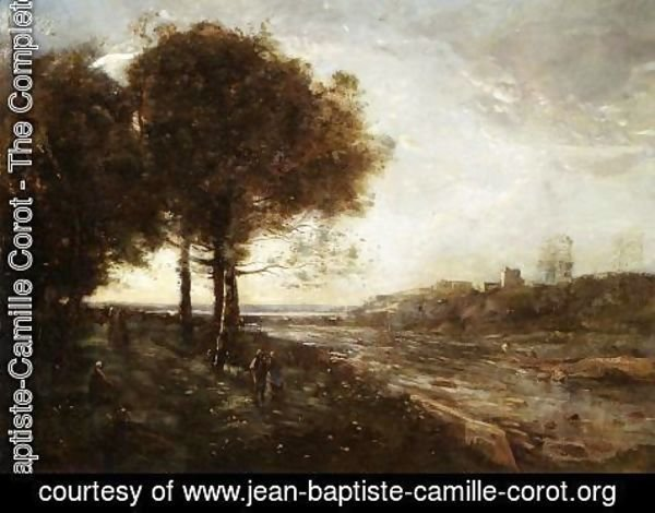 Jean-Baptiste-Camille Corot - Waterfall on the Romagnes