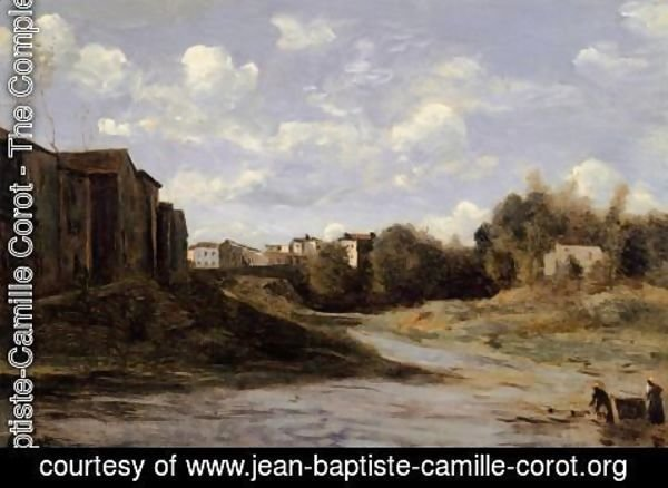 Jean-Baptiste-Camille Corot - The Banks of the Midouze, Mont-de-Marsan, as Seen from the Pont du Commerce