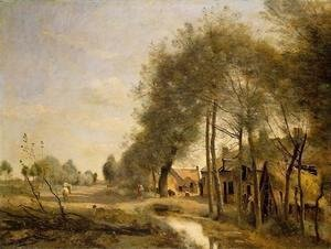 Jean-Baptiste-Camille Corot - The Sin-le-Noble Road near Douai