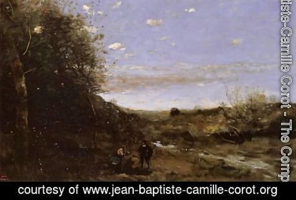 Jean-Baptiste-Camille Corot - Hamlet and the Gravedigger