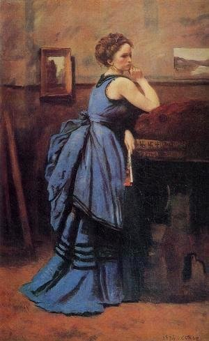 Jean-Baptiste-Camille Corot - Lady in Blue