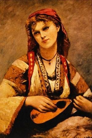 Jean-Baptiste-Camille Corot - Gypsy with a Mandolin