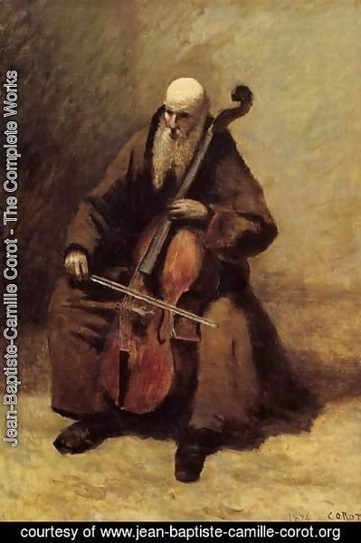 Jean-Baptiste-Camille Corot - Monk with a Cello