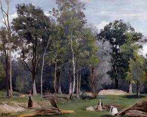 Jean-Baptiste-Camille Corot - In the Woods at Ville d'Avray