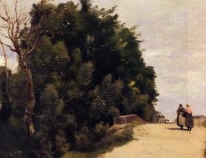 Jean-Baptiste-Camille Corot - The Little Bridge at Mantes