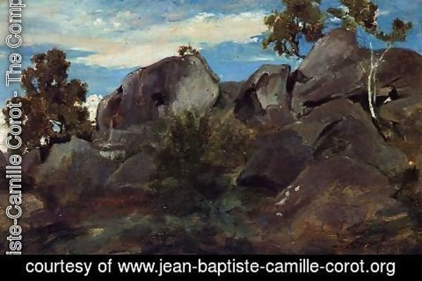 Jean-Baptiste-Camille Corot - Stoller in the Fontainebleau Forest