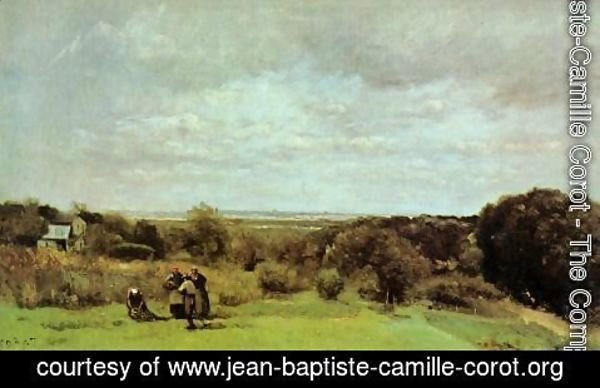 Jean-Baptiste-Camille Corot - The Grape Harvest at Sevres