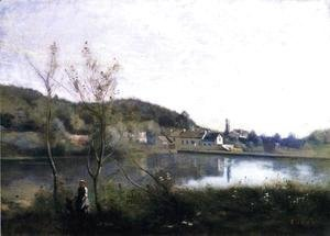 Jean-Baptiste-Camille Corot - Ville d'Avray - The Large Pond and the Villas