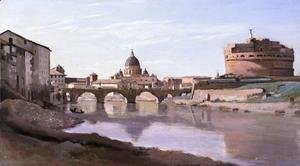 Jean-Baptiste-Camille Corot - View of St. Peter's and the Castel Sant'Angelo