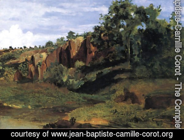 Jean-Baptiste-Camille Corot - Rocks at Civita Castellana