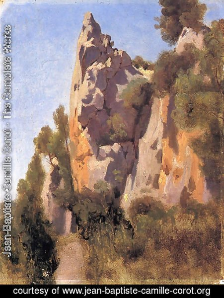 Jean-Baptiste-Camille Corot - Rocks at Civita Castellana I