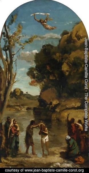 Jean-Baptiste-Camille Corot - The Baptism of Christ (study)